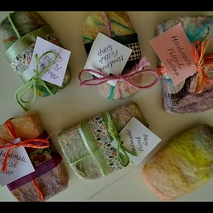 Sarah's Hand Felted soaps
