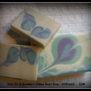 Baby Girl & Grandma Hidden Heart Soap 2018Jan13