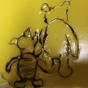 Winnie And Piglet Soap Painting by SaltedFig
