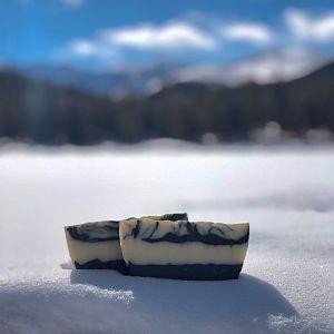 Layered Charcoal Swirl Soap