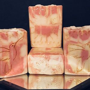 Gold Stamped Soap