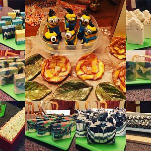 Soap Clay Minions, flowers and various soaps