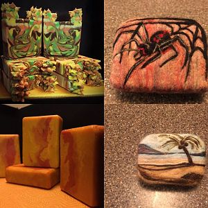Felted Soap, Red Palm Oil Soap