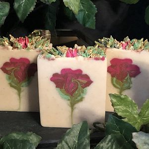Secret Swirl Rose of Sharon Soap