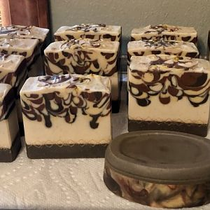 Caramel Macchiato Soap Infused with Starbuck's Coffee
