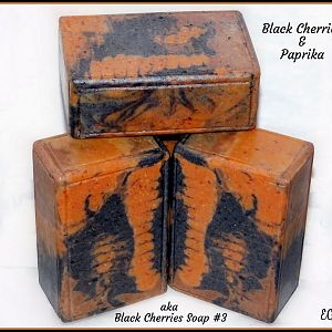 Black Cherries & Paprika - aka Black Cherries Soap #3