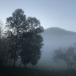 Mist over the mountain, the Blue Ridge Mountains, my backyard :)